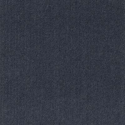 Premium Self-Stick First Impressions High Low Ocean Blue 24 in. x 24 in. Carpet Tile (15 Tiles/60 sq. ft./case)