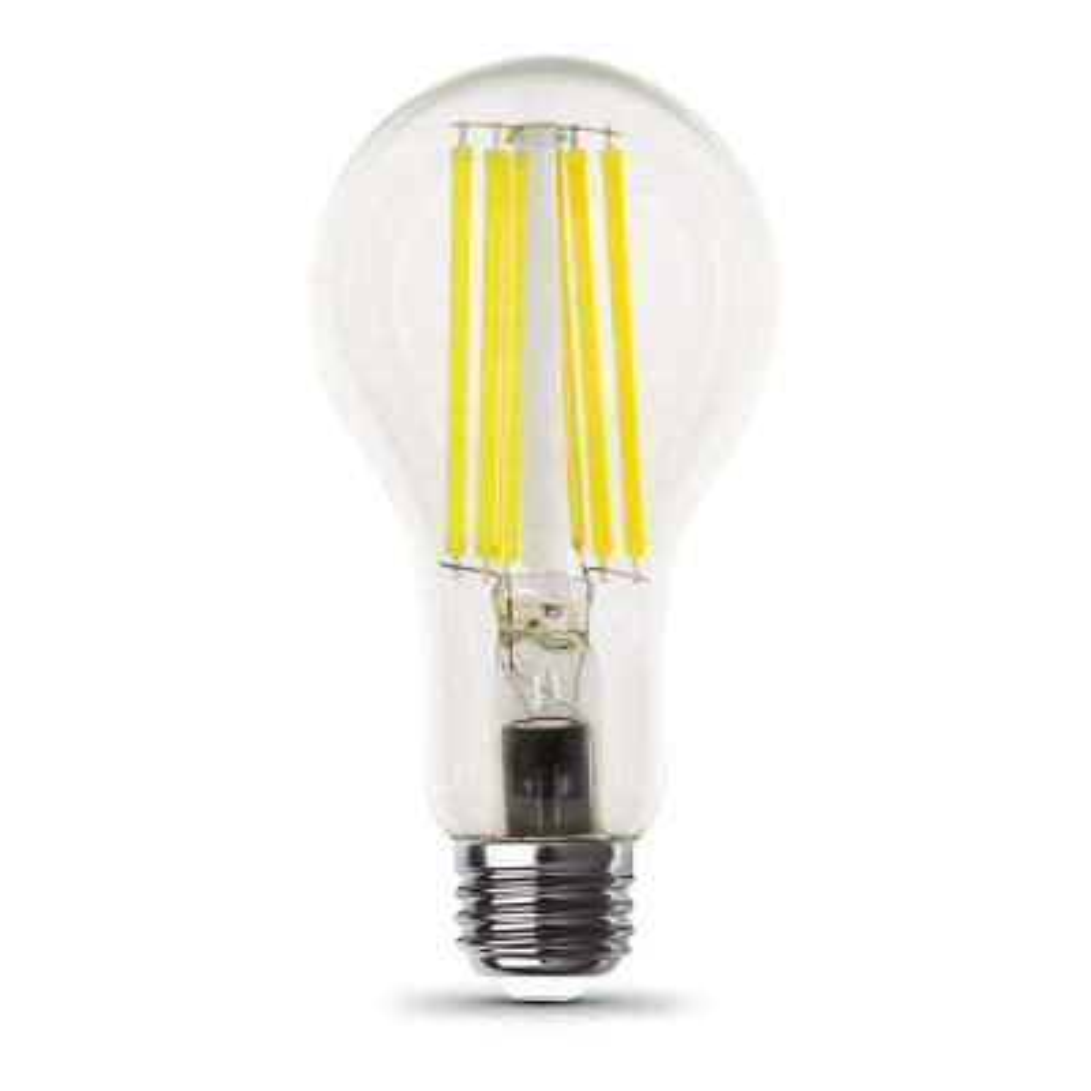 150-Watt Equivalent A21 Clear Glass Filament Bright White (3000K) LED Light Bulb (1-Bulb)