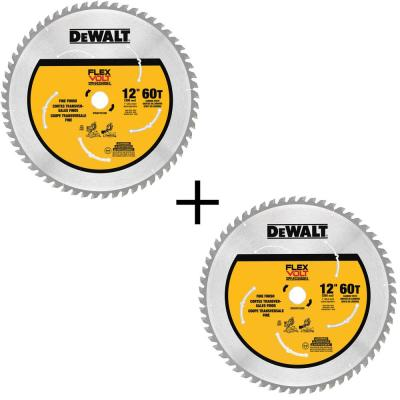 FLEXVOLT 12 in. 60-Teeth Carbide-Tipped Miter Saw Blade (2-Pack)