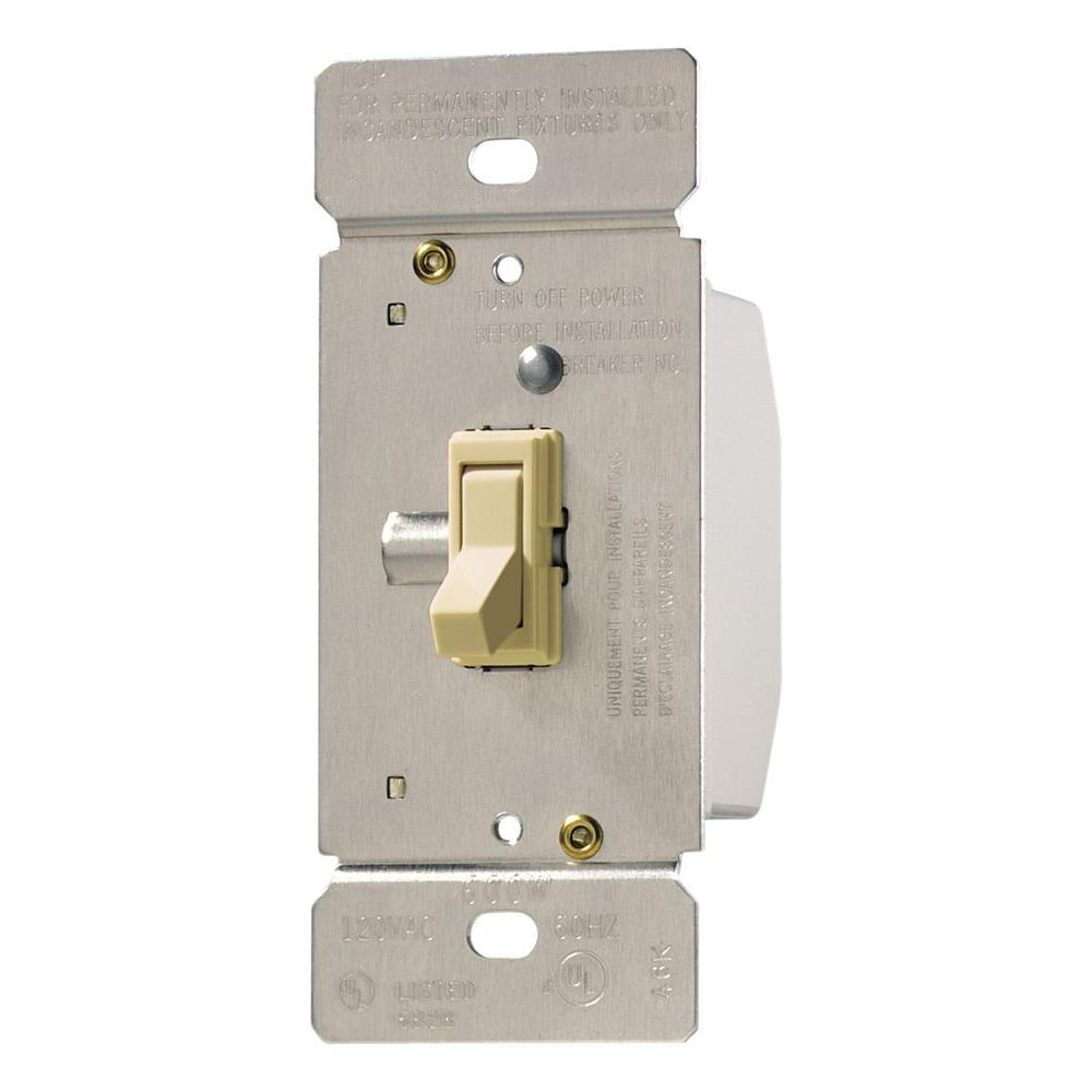 Eaton Trace 3 Way Single Pole Toggle Dimmer Ivory Ti061 V The Wiring With