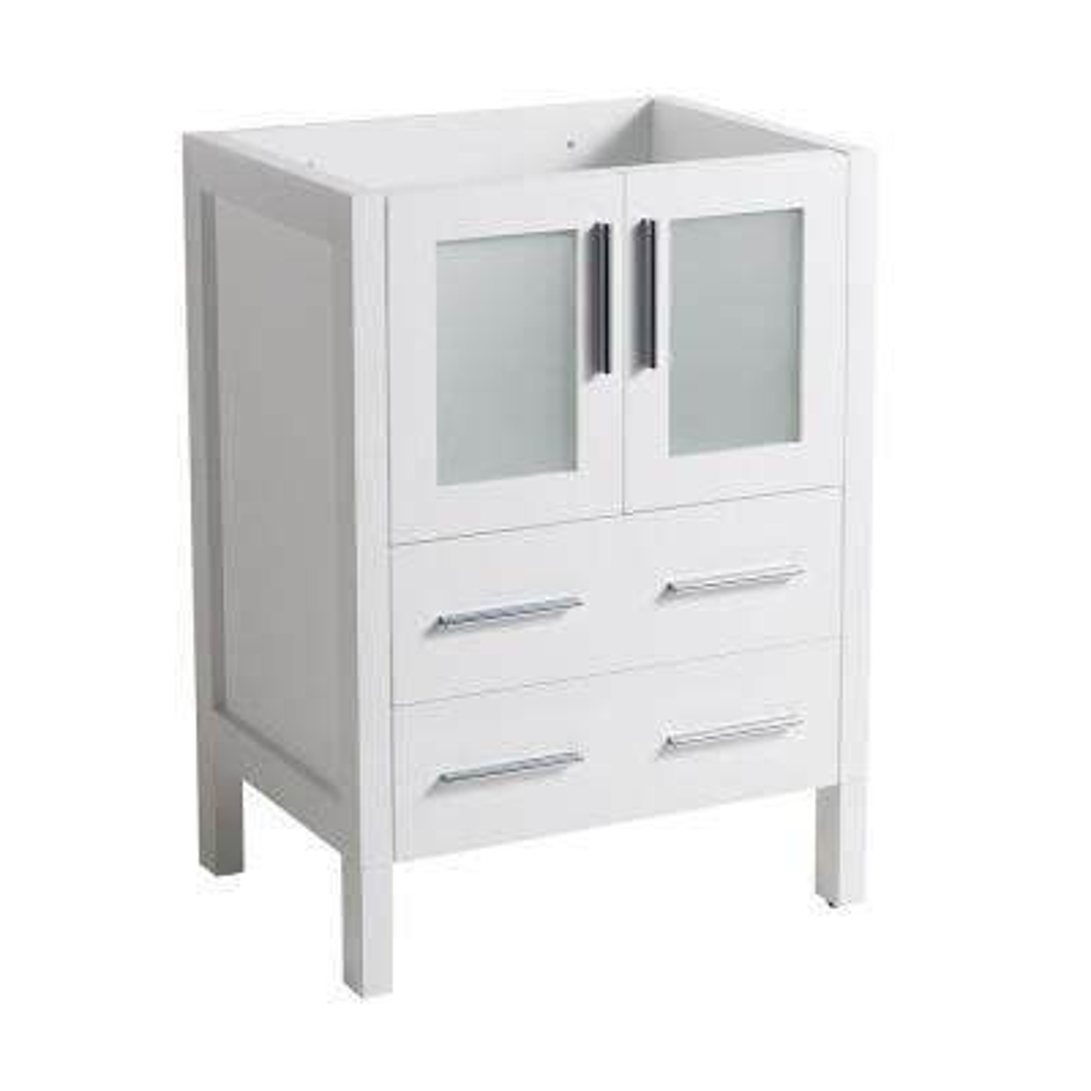 Torino 24 in. Modern Bathroom Vanity Cabinet Only in White