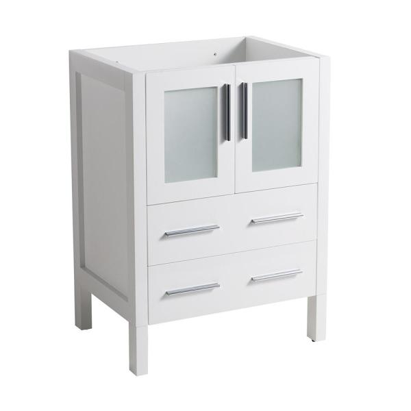 Torino 24 in. Modern Bathroom Vanity Cabinet Only in White