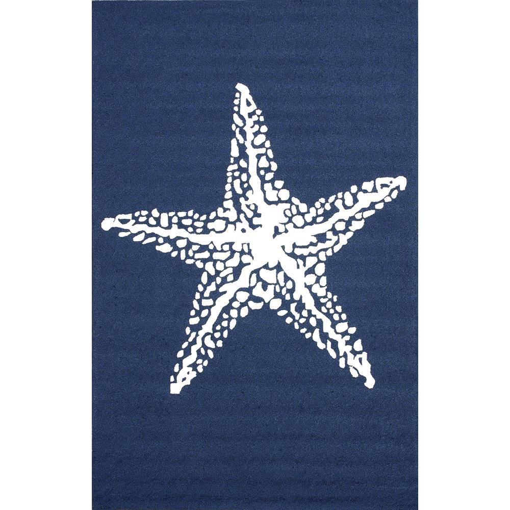 nuLOOM Marine Blue 5 ft. x 8 ft. Outdoor Area Rug