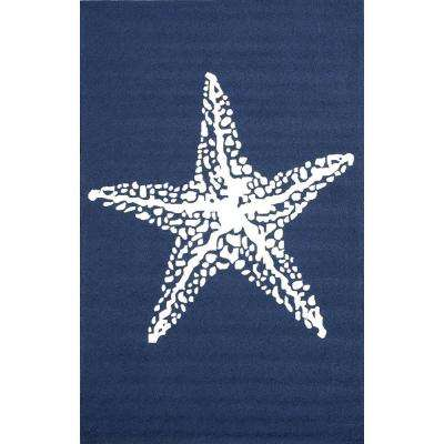 Marine Blue 8 ft. x 10 ft. Outdoor Area Rug