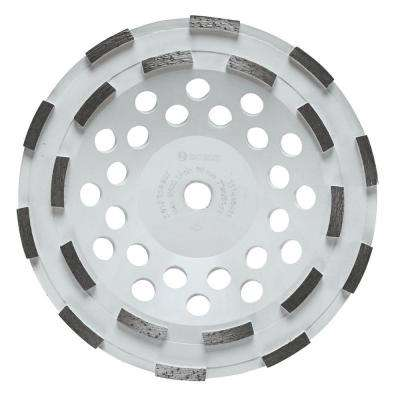 7 in. Double Row Segmented Diamond Cup Wheel