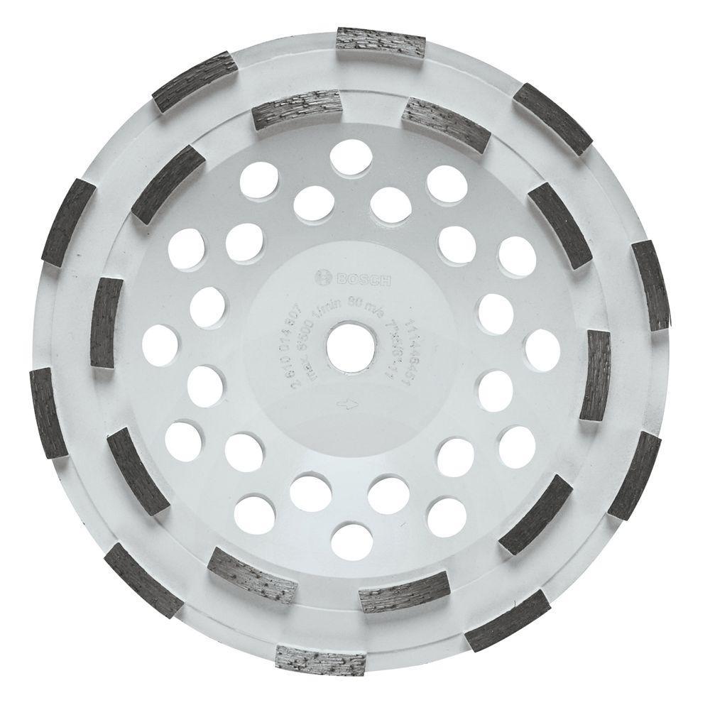 7 in. Double Row Segmented Diamond Cup Wheel