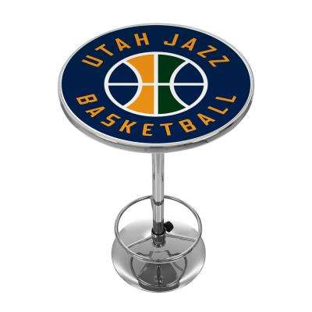 NBA Utah Jazz Chrome Pub/Bar Table
