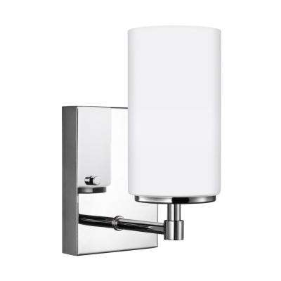 Alturas 4.375 in. W. 1-Light Chrome Sconce