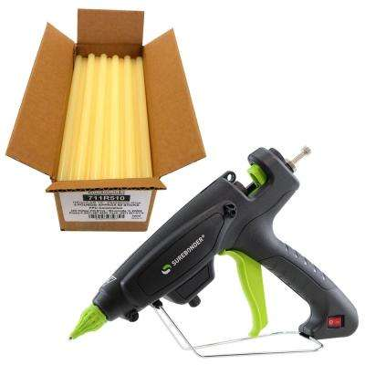 220-Watt Adjustable Temperature Heavy Duty Full Size Glue Gun with 10 in. x 7/16 in. Dia Glue Sticks (5 lb. Bulk Pack)