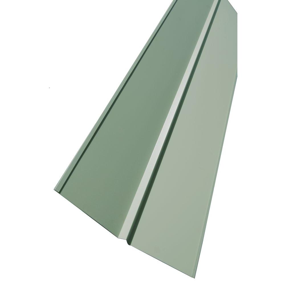 10 ft. Green 26-Gauge Galvanized Steel Valley Trim