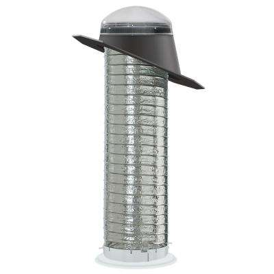 14 in. Impact Dome Sun Tunnel Tubular Skylight with Flexible Tunnel and Pitched Flashing