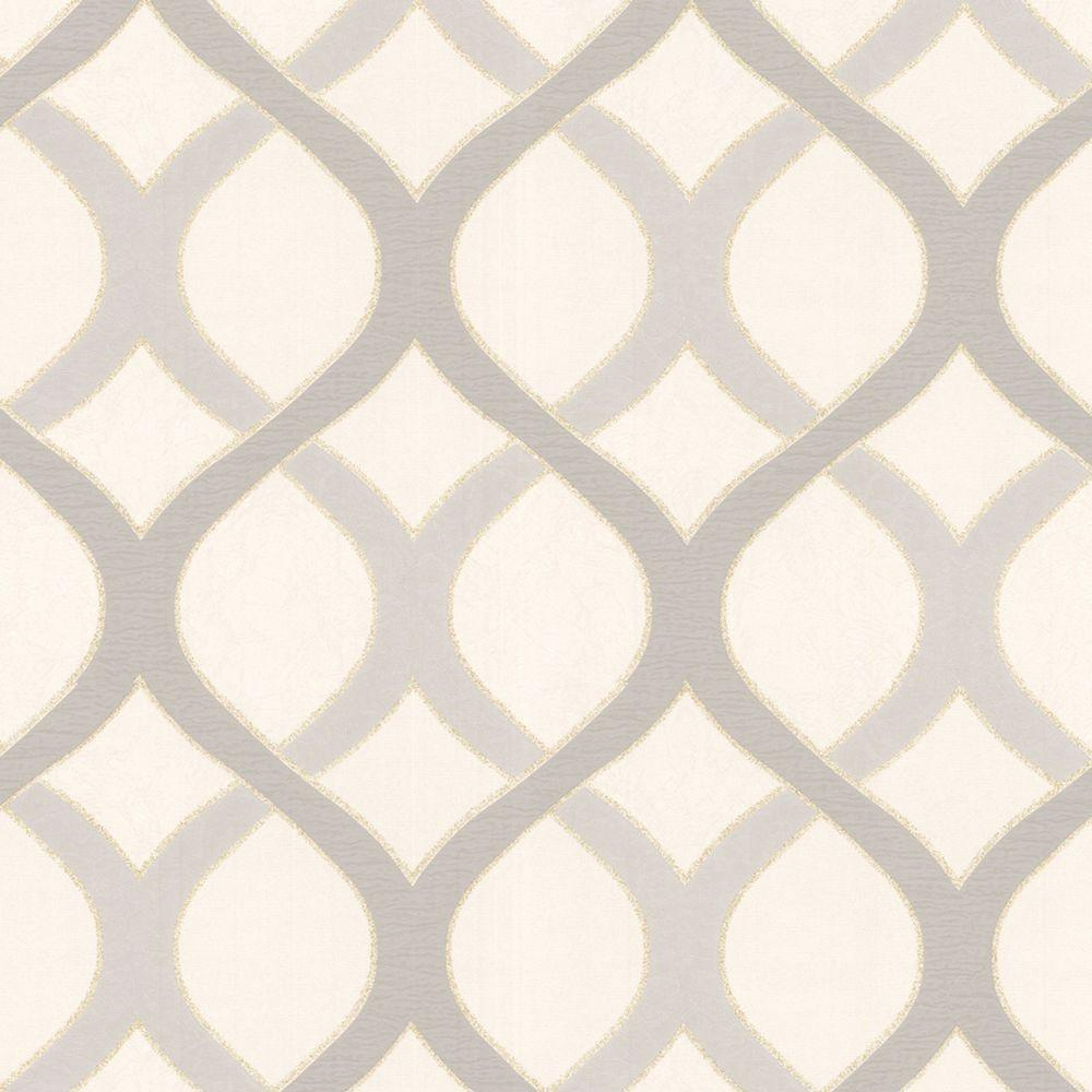 Graham & Brown 56 sq. ft. Highbury White Wallpaper-DISCONTINUED