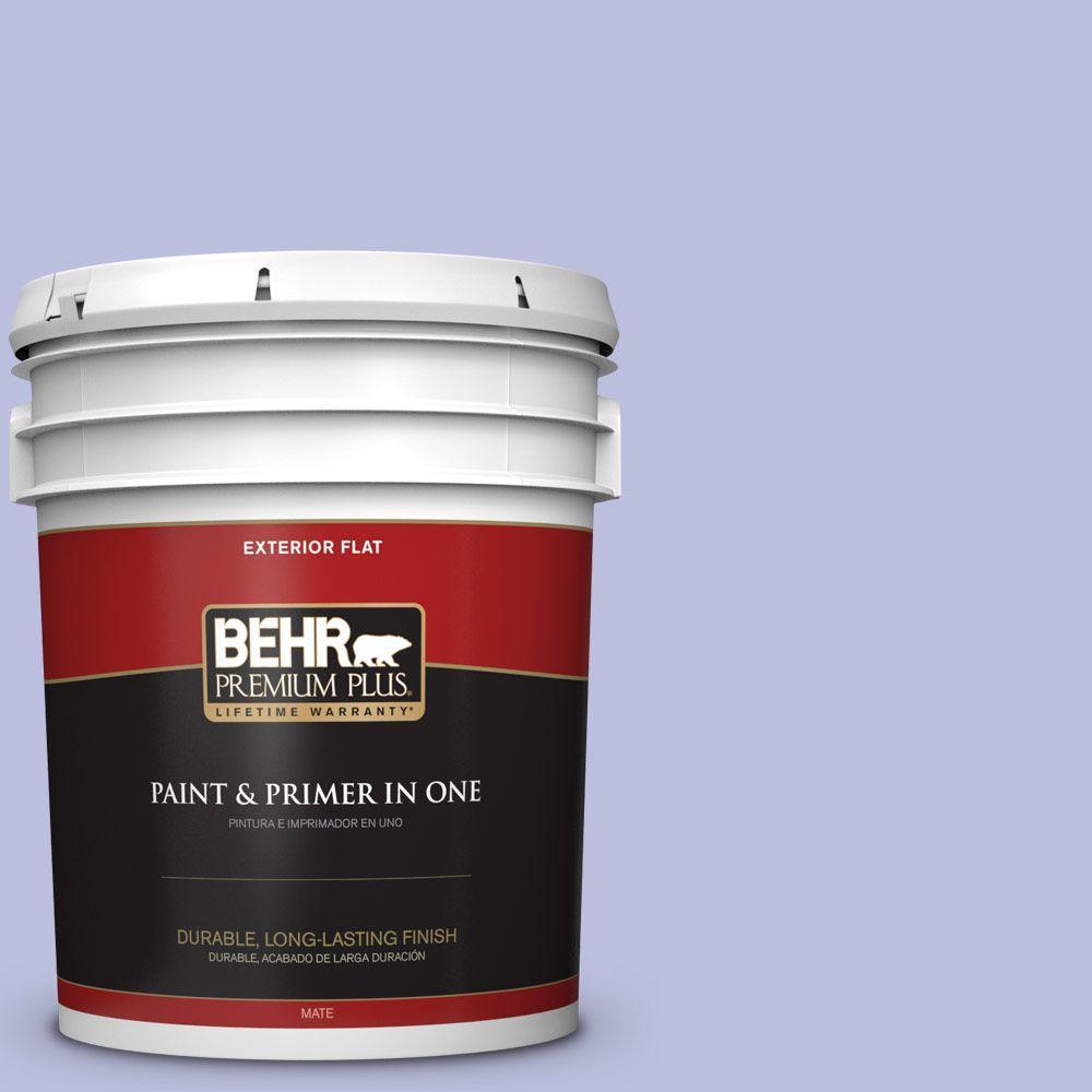 BEHR Premium Plus 5-gal. #620A-3 Rhapsody Lilac Flat Exterior Paint