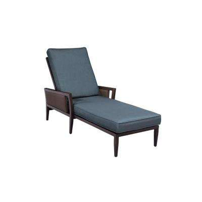 Greystone Patio Chaise Lounge with Denim Cushions -- CUSTOM