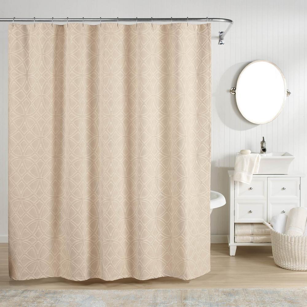 Bogart Shower Curtain Taupe