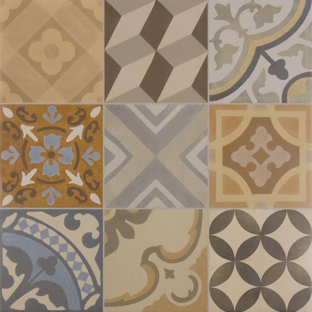 ELIANE Essence Decor 24 in. x 24 in. Porcelain Floor and Wall Tile ...