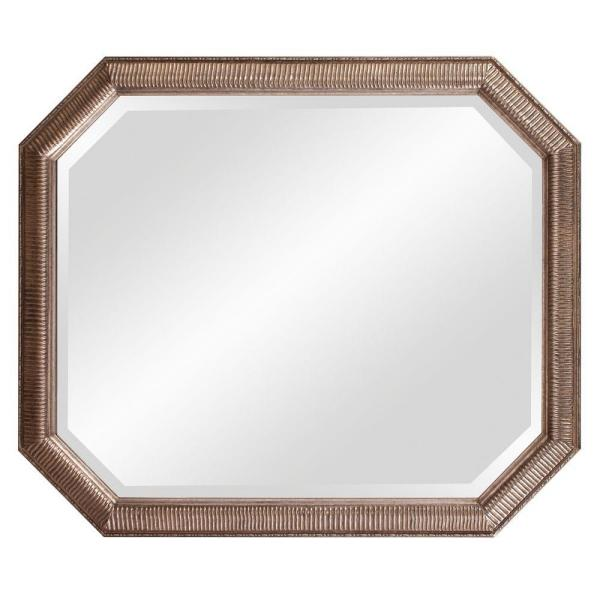 36 in. x 30 in. Antique Silver Octagonal Framed Mirror 92091