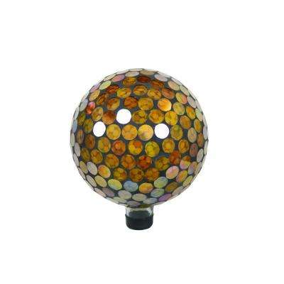 10 in. Gazing Globe Golden Circles