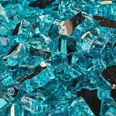 10 lbs. of Tahitian Blue 1/4 in. Reflective Fire Glass