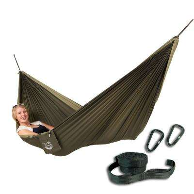 6.5 ft. Nylon Couple's Double Hammock with Free Tree Straps