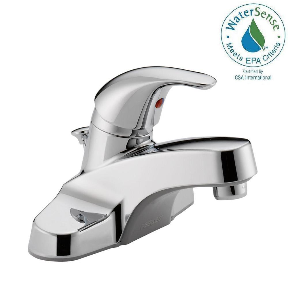 Peerless Core 4 in. Centerset Single-Handle Bathroom Faucet in ...