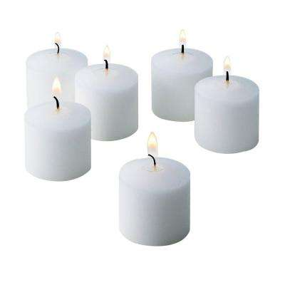 10 Hour White Unscented Votive Candle (Set of 72)
