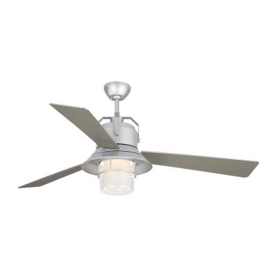Boynton 54 in. Integrated LED Indoor/Outdoor Painted Brushed Steel Ceiling Fan with Light Kit