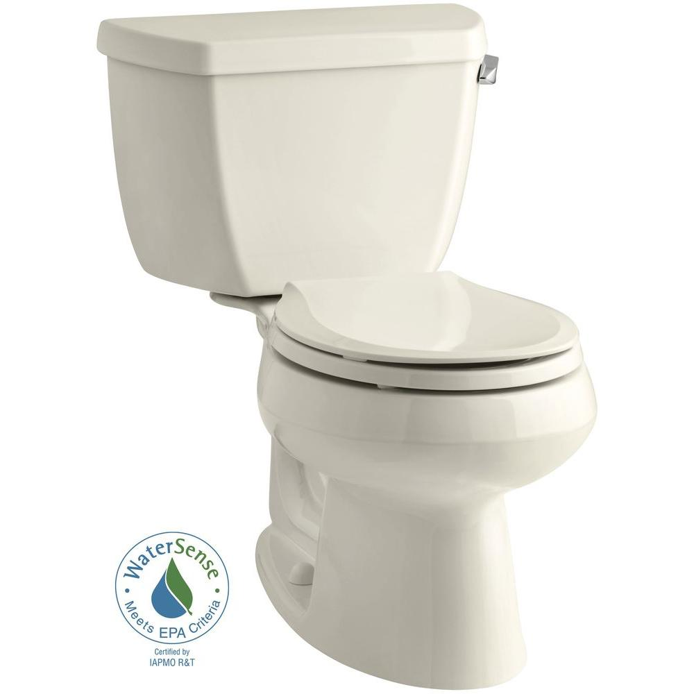 Kohler Wellworth 2-piece 1.28 GPF Single Flush Round Toil...