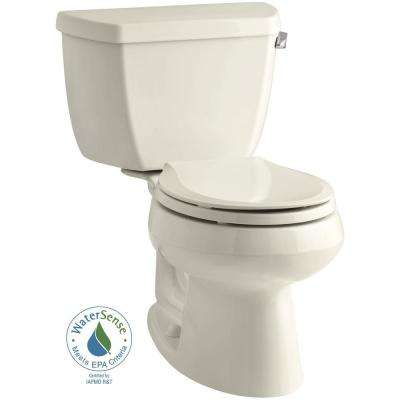 Wellworth 2-piece 1.28 GPF Single Flush Round Toilet in Almond