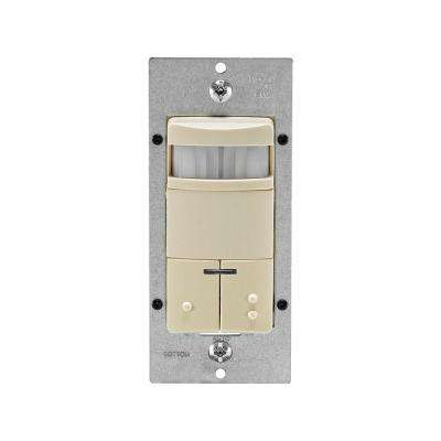 Decora Dual-Relay Passive Infrared Wall Switch Occupancy Sensor, Ivory