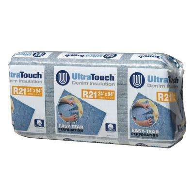 24.25 in. x 94 in. R21 Denim Insulation (8-Bags)