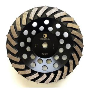 Whirlwind USA 7 inch Segmented Turbo Diamond Grinding Cup Wheel for Concrete and... by Whirlwind USA