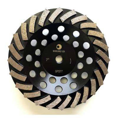 7 in. Segmented Turbo Diamond Grinding Cup Wheel for Concrete and Mortar