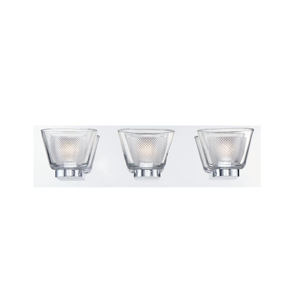 Trent Collection 21-Watt Chrome Integrated LED Bath Light