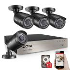 8-Channel 1080p DVR 1TB Hard Drive Security Camera System with 4 Wired Cameras