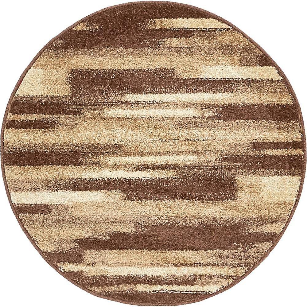 Autumn Wheat Beige 3' 3 x 3' 3 Round Rug