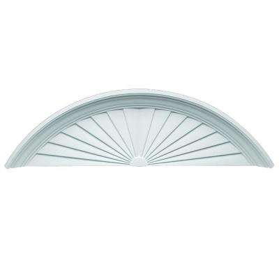66-3/4 in. x 20-7/8 in. x 5-1/2 in. Polyurethane Sunburst Pediment