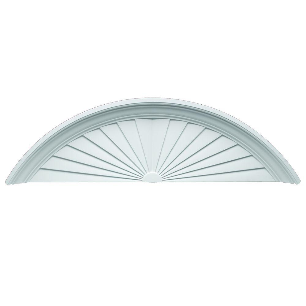Fypon 55-1/4 in. x 16-5/16 in. x 4-1/2 in. Polyurethane Sunburst Pediment