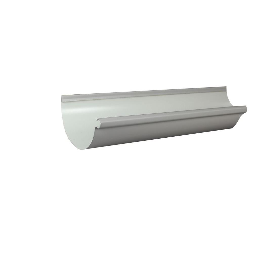 6 in. x 10 ft. Half Round Colonial Gray Aluminum Gutter