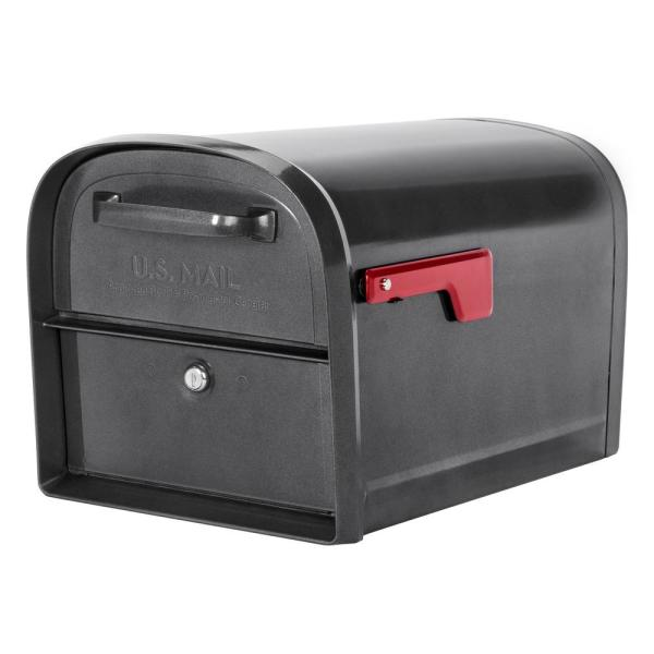 Oasis 360 Locking Parcel Mailbox with 2-Access Doors Pewter