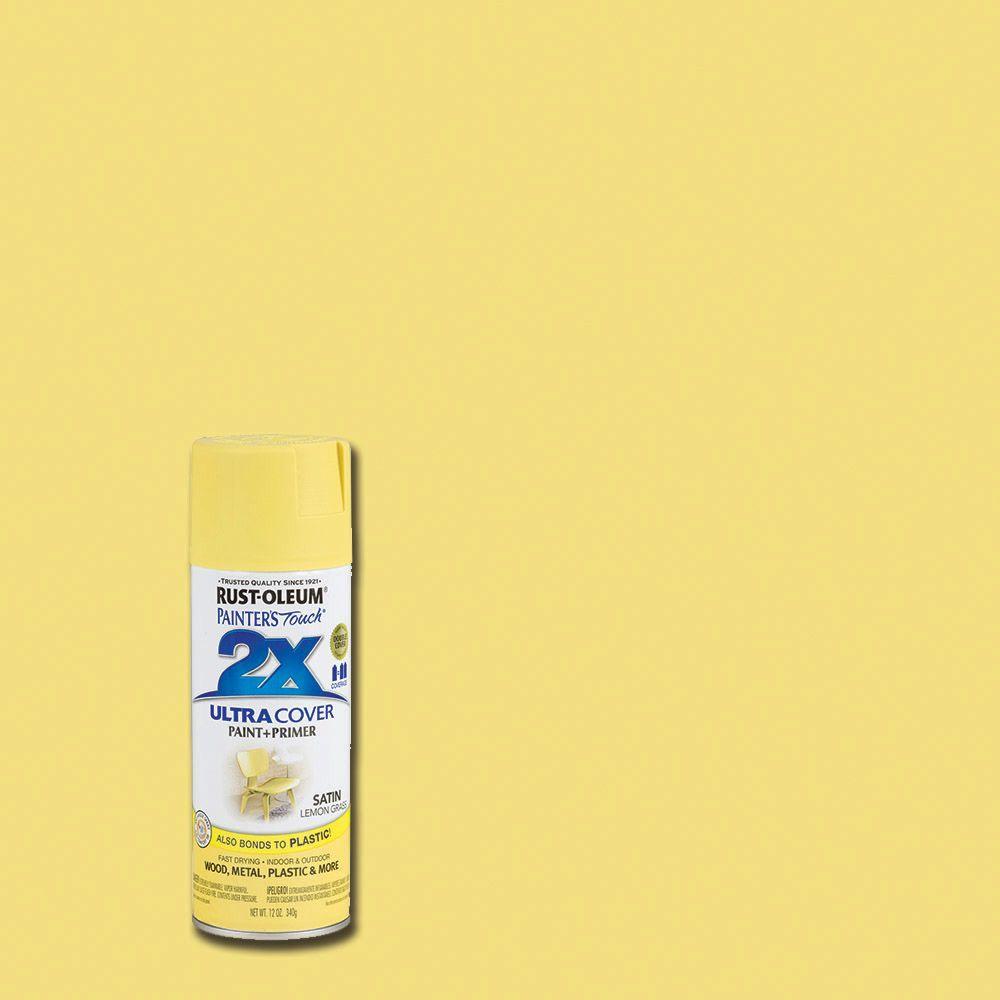 Rust-Oleum Painter's Touch 2X 12 oz. Satin Lemongrass General Purpose Spray Paint