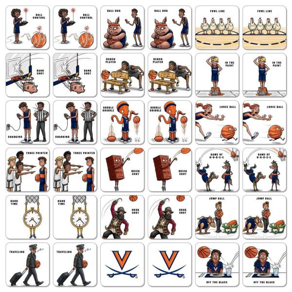 Youthefan Ncaa Virginia Cavaliers Licensed Memory Match Game 2501376 The Home Depot