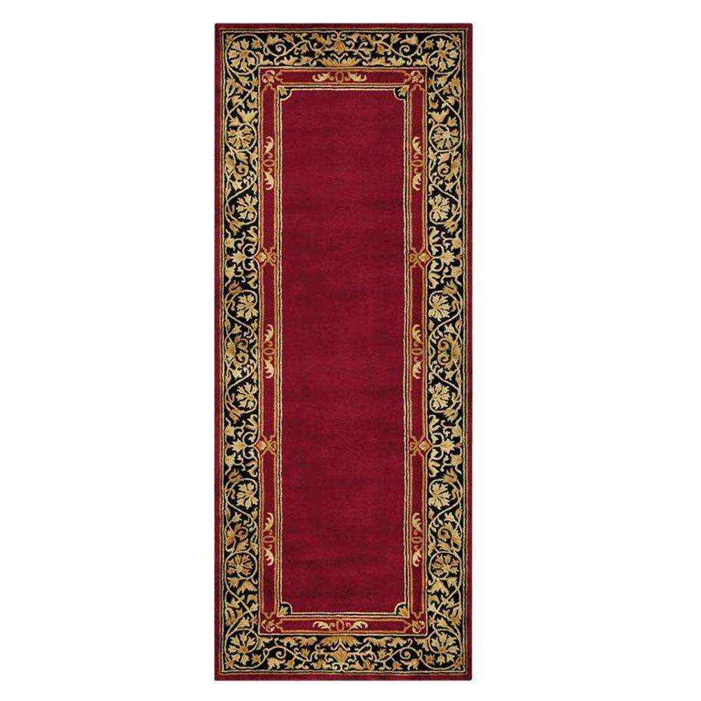 Home decorators collection churchill red 2 ft 9 in x 14 for Home decorators rug runners