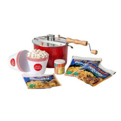 4-Piece Aluminum Multi-Colored Popcorn Popper Set