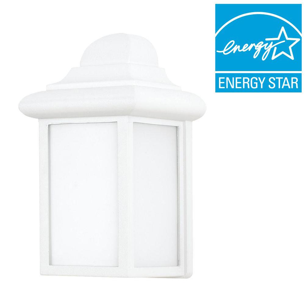 Sea Gull Lighting Mullberry Hill 1-Light White Outdoor Wall Fixture