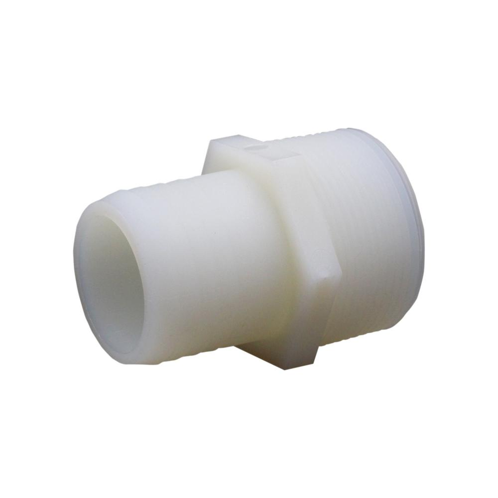 Everbilt 1-1/2 in. x 1-1/2 in. Plastic Hose Barb Adapter