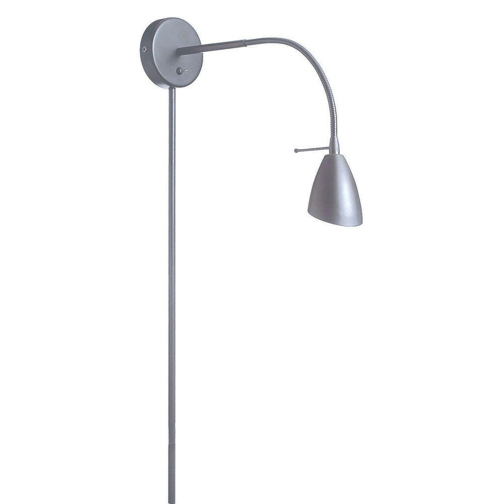 Filament Design Denny 1-Light Satin Chrome Wall Lamp