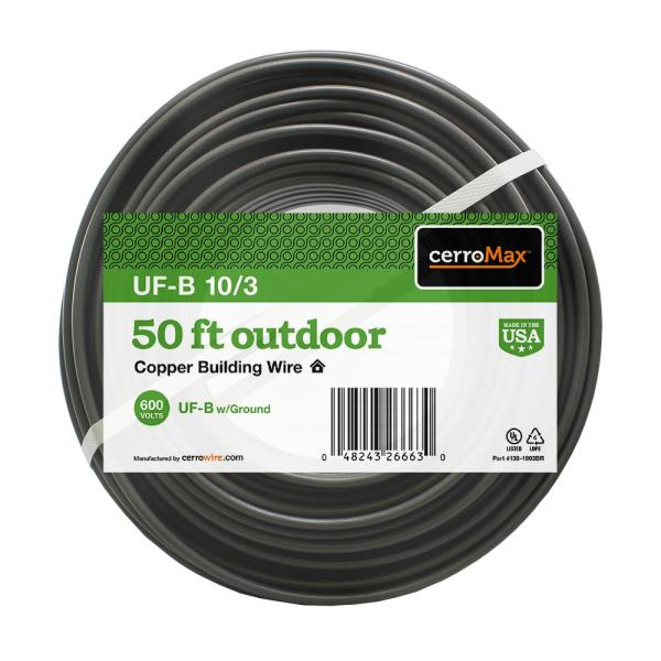 50 ft. 10/3 UF-B Wire