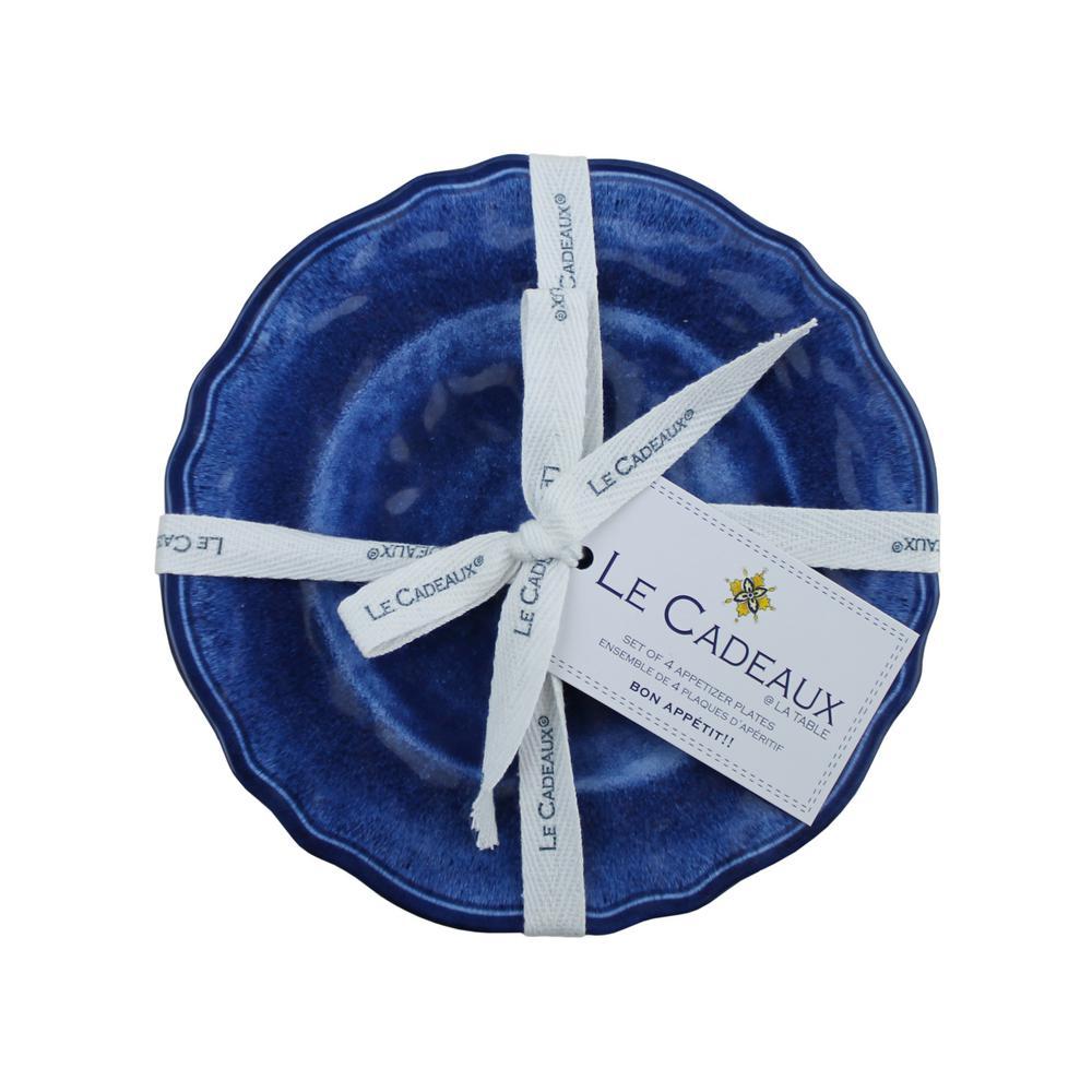 Campania Blue Appetizer Plates (Set of 4)