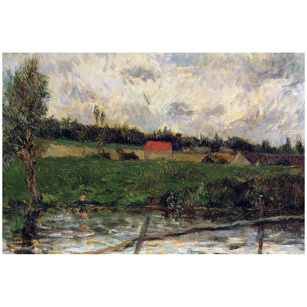 14 in. x 19 in. Brittany Landscape, 1879 Canvas Art